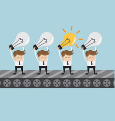 businessman standing with bulb idea vector image vector image