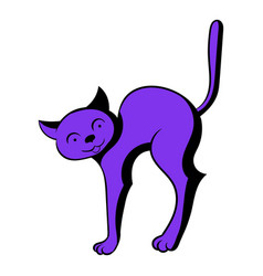 cat icon cartoon vector image