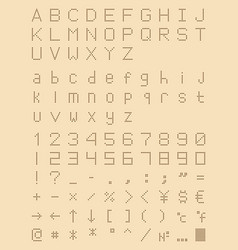 dotted font perforated point type vector image vector image