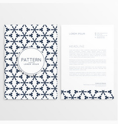 letterhead front and back design vector image