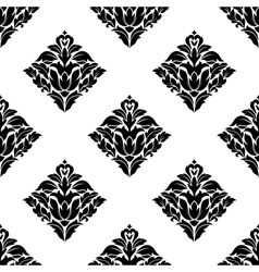 Repeat seamless floral pattern vector image