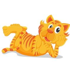 Tiger laying down vector image
