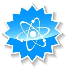 Atom blue icon vector