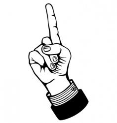 index finger vector image vector image