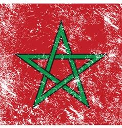 morocco retro flag vector image vector image