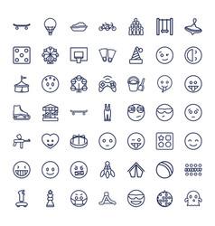 49 fun icons vector