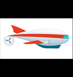 Aerostat airship isolated icon vector