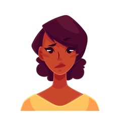 African girl face upset confused facial vector