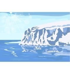 Antarctic iceberg in snow vector