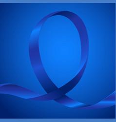 Awareness blue ribbon vector