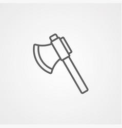 axe icon sign symbol vector image