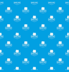 bakery product pattern seamless blue vector image