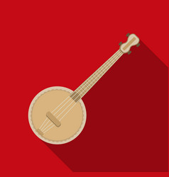 Banjo icon in flat style isolated on white vector