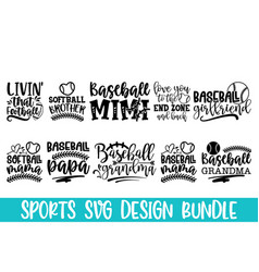 baseball hand drawn lettering phrase isolated on w vector image