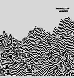 black white geometric pattern striped background vector image
