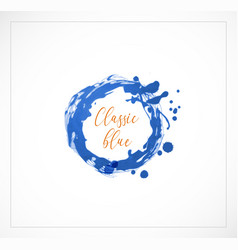 blue grunge circle on white background classic vector image