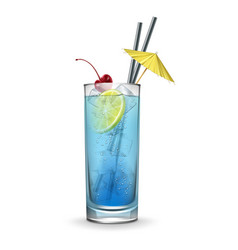 Blue lagoon cocktail vector