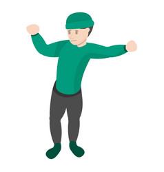 break dance move icon cartoon style vector image