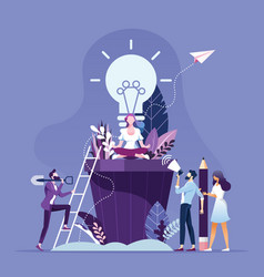 Business people brainstorming and creative idea vector
