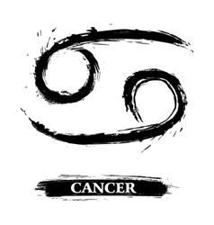 Cancer symbol vector image