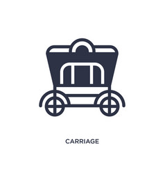 Carriage icon on white background simple element vector