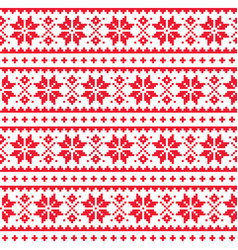 Christmas winter seamless pattern vector
