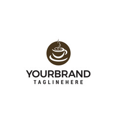 coffee cup logo design concept template vector image