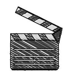 color crayon stripe image cartoon movie vector image