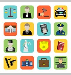 Criminal and prison iconlawflat style vector image