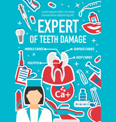 Dental surgery care and dentistry medicine clinic vector