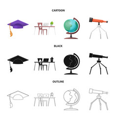 Design of education and learning logo vector