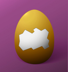 Easter egg without the shell in the middle purple vector