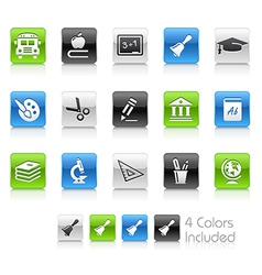 Education Icons Clean Series vector image
