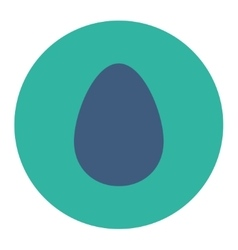 Egg flat cobalt and cyan colors round button vector