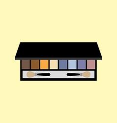 Eyeshadow palette make up vector image