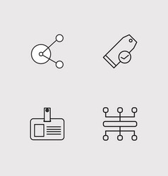 Finance outline icons set vector