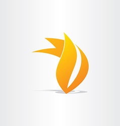 fire burn symbol design vector image