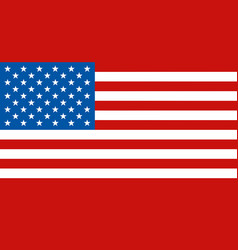 flag of united states of america usa vector image