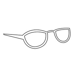 Glasses accessory female style outline vector