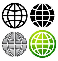 Globe graphics in 4 versions vector