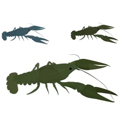 Green crayfish vector