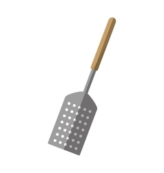 grill spatula kitchen and cooking utensils shadow vector image