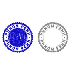 Grunge phnom penh textured watermarks vector