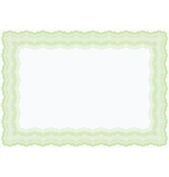 Guilloche green horizontal frame vector