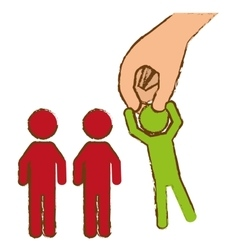 hand and people vector image