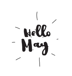 Hello May Hand drawn design calligraphy vector image