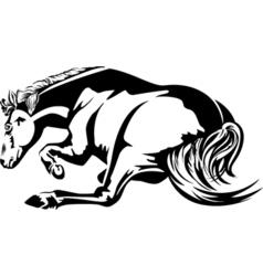 Horse lie vector