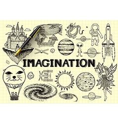 Imagination sketch vector