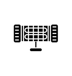 infrared heater icon black vector image