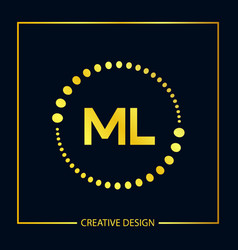 Initial letter ml logo template design vector